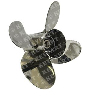 "063018 - 13 3/4""x 24"" RH Stainless Steel 4-Blade Propeller for Suzuki V6"