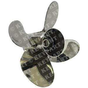 "103032 - 13 3/4""x 24"" RH Stainless Steel 4-Blade Propeller for Yamaha V6"