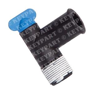 18-4224 - Drain Elbow Assy with Blue Plastic Tap - Replacement