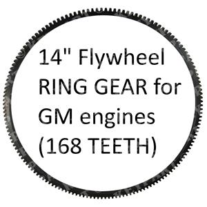 """18-4516 - Ring Gear for 14"""" GM Flywheel - Replacement (168 Teeth)"""