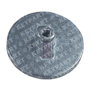 18-6016 - Zinc Anode - Above Prop - Circular Flat Type - Replacement