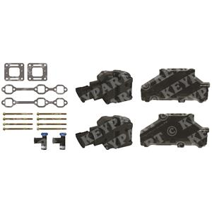 "KP-Manifold-Set-7 - V6 Complete Manifold Set with 4"" Risers"