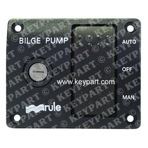 RULE-43 - 12V 3-Way Lighted Control Panel for Automatically Controlled Bilge Pum