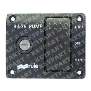 RULE-44 - 24V 3-Way Lighted Control Panel for Automatically Controlled Bilge Pum