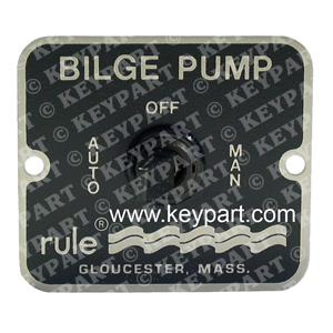 RULE-45 - 12/24V 3-Way Control Panel for Automatically Controlled Bilge Pumps -